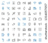 broadcast icons set. collection ... | Shutterstock .eps vector #1316057057