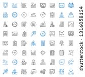 report icons set. collection of ... | Shutterstock .eps vector #1316058134