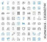 lock icons set. collection of... | Shutterstock .eps vector #1316060744
