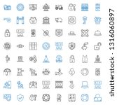 safe icons set. collection of... | Shutterstock .eps vector #1316060897
