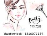 beauty blog fashion... | Shutterstock .eps vector #1316071154