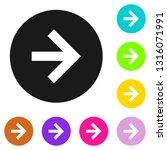 arrow icon. arrow symbol. arrow ... | Shutterstock .eps vector #1316071991