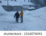 mavrovo ski resort and winter...   Shutterstock . vector #1316076041