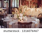 rustic wedding decorations with ... | Shutterstock . vector #1316076467