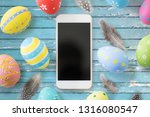 easter  holidays and object... | Shutterstock . vector #1316080547