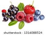 set fresh berry. mix summery...   Shutterstock . vector #1316088524