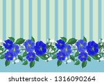 the garland is seamless with... | Shutterstock .eps vector #1316090264