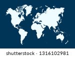 color world map vector | Shutterstock .eps vector #1316102981