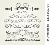 calligraphic graphic elements... | Shutterstock .eps vector #1316106797
