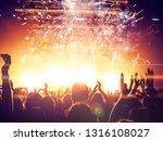 concert spectators in front of... | Shutterstock . vector #1316108027