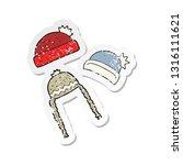 retro distressed sticker of a...   Shutterstock .eps vector #1316111621