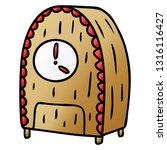 hand drawn gradient cartoon... | Shutterstock .eps vector #1316116427