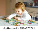 adorable cute toddler girl... | Shutterstock . vector #1316126771