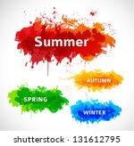 set of season vector...   Shutterstock .eps vector #131612795