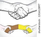 set of shaking hands  ... | Shutterstock .eps vector #131612897