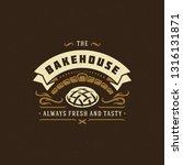 bakery badge or label retro... | Shutterstock .eps vector #1316131871