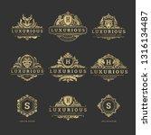 luxury logos monograms crest... | Shutterstock .eps vector #1316134487