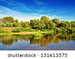 Summer River Landscape
