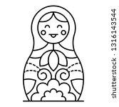 smiling nesting doll icon.... | Shutterstock .eps vector #1316143544