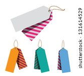 doubled price tags | Shutterstock . vector #131614529