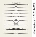 divider  calligraphic design... | Shutterstock .eps vector #1316146571