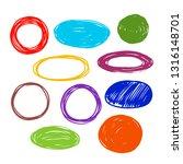 color vector  strokes of marker ... | Shutterstock .eps vector #1316148701