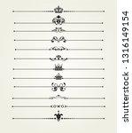 dividers  calligraphic design... | Shutterstock .eps vector #1316149154