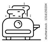 house toaster icon. outline... | Shutterstock .eps vector #1316150204