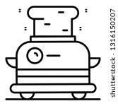 vintage toaster icon. outline... | Shutterstock .eps vector #1316150207