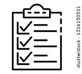 checklist clipboard icon....