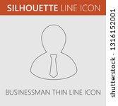 businessman avatar vector icon. ... | Shutterstock .eps vector #1316152001