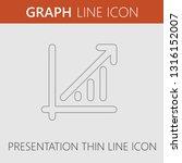 graph arrow up vector icon.... | Shutterstock .eps vector #1316152007