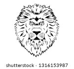 black and white tattoo king... | Shutterstock .eps vector #1316153987