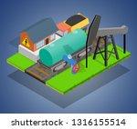 storage depot concept banner.... | Shutterstock .eps vector #1316155514