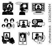 webinar icons set. simple set... | Shutterstock .eps vector #1316156054
