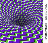 absorbing hole of zigzag... | Shutterstock .eps vector #1316170937