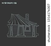 small hut icon line element.... | Shutterstock .eps vector #1316176307