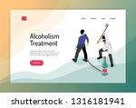 alcoholism treatment isometric... | Shutterstock .eps vector #1316181941