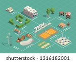 city park infrastructure... | Shutterstock .eps vector #1316182001