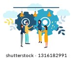 work in the office. men and... | Shutterstock .eps vector #1316182991