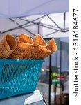 waffles in the basket on the... | Shutterstock . vector #1316184677
