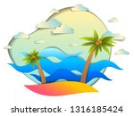 beautiful seascape with sea... | Shutterstock .eps vector #1316185424