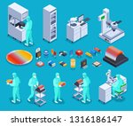 semicondoctor production icons... | Shutterstock .eps vector #1316186147