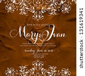 wedding invitation card with... | Shutterstock .eps vector #131619341