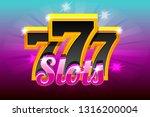 slots 777 banner casino. vector ...