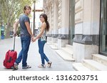 beautiful young tourist couple... | Shutterstock . vector #1316203751