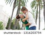 beautiful diverse tourist... | Shutterstock . vector #1316203754
