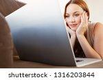 portrait of beautiful young... | Shutterstock . vector #1316203844