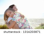 grandmother and grand daughter... | Shutterstock . vector #1316203871