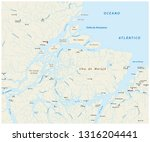 detailed vector map of the...   Shutterstock .eps vector #1316204441